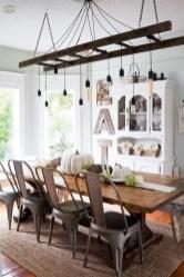 Magnificient Farmhouse Ladder Chandelier Ideas 22