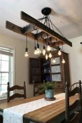 Magnificient Farmhouse Ladder Chandelier Ideas 26