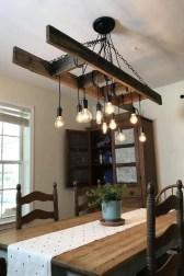 Magnificient Farmhouse Ladder Chandelier Ideas 44
