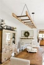 Magnificient Farmhouse Ladder Chandelier Ideas 51