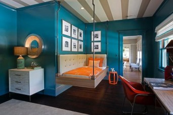 Outstanding Striped Ceiling Bedroom Decoration Ideas 12