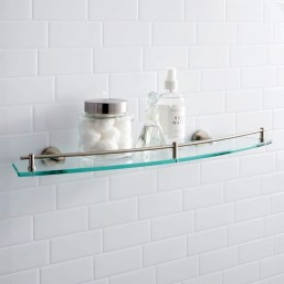 Perfect Glass Shelves Ideas For Bathroom Design 01