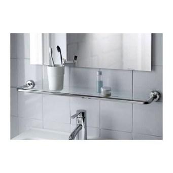 Perfect Glass Shelves Ideas For Bathroom Design 11