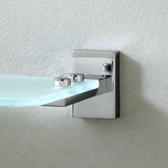 Perfect Glass Shelves Ideas For Bathroom Design 13