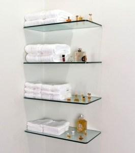 Perfect Glass Shelves Ideas For Bathroom Design 23