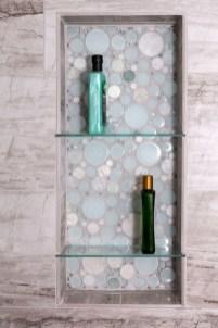 Perfect Glass Shelves Ideas For Bathroom Design 24