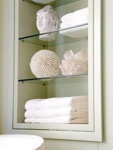Perfect Glass Shelves Ideas For Bathroom Design 27