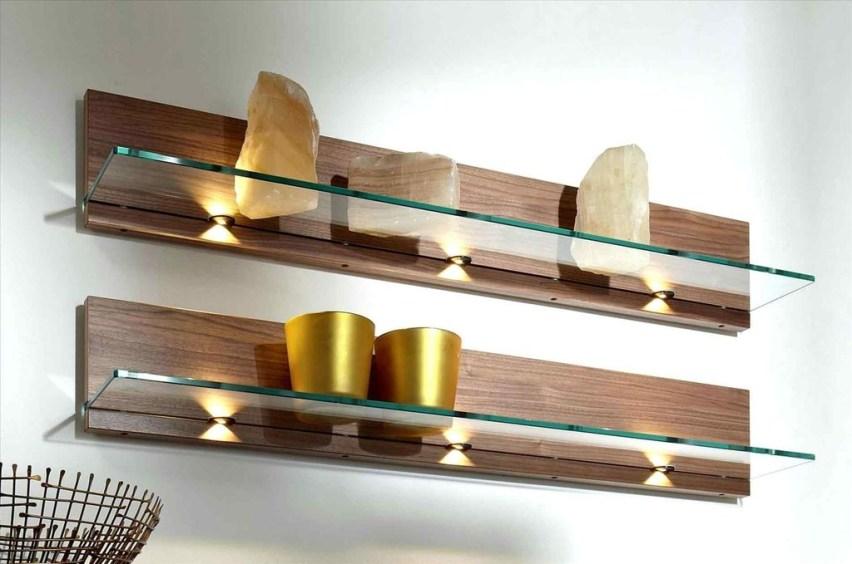 Perfect Glass Shelves Ideas For Bathroom Design 28