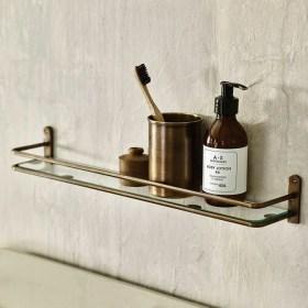 Perfect Glass Shelves Ideas For Bathroom Design 29