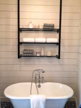 Perfect Glass Shelves Ideas For Bathroom Design 32