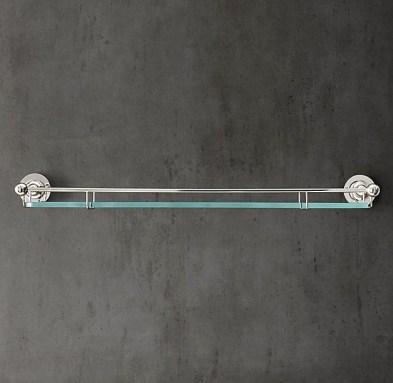 Perfect Glass Shelves Ideas For Bathroom Design 34