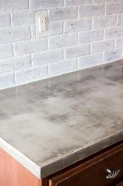 Awesome Kitchen Concrete Countertop Ideas To Inspire 06