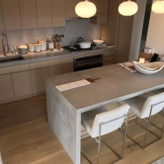 Awesome Kitchen Concrete Countertop Ideas To Inspire 12