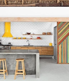 Awesome Kitchen Concrete Countertop Ideas To Inspire 32