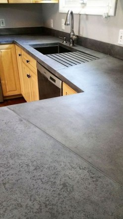 Awesome Kitchen Concrete Countertop Ideas To Inspire 42