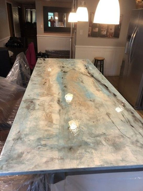 Awesome Kitchen Concrete Countertop Ideas To Inspire 47