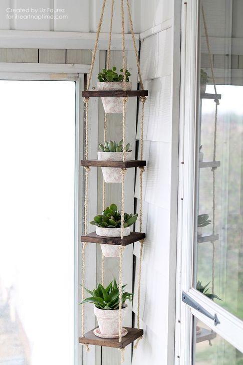 Inspiring DIY Vertical Plant Hanger Ideas For Your Home 46
