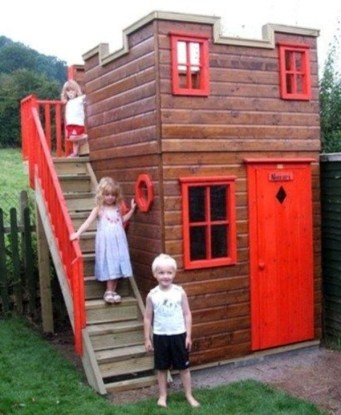 Marvelous Outdoor Playhouses Ideas To Live Childhood Adventures 12