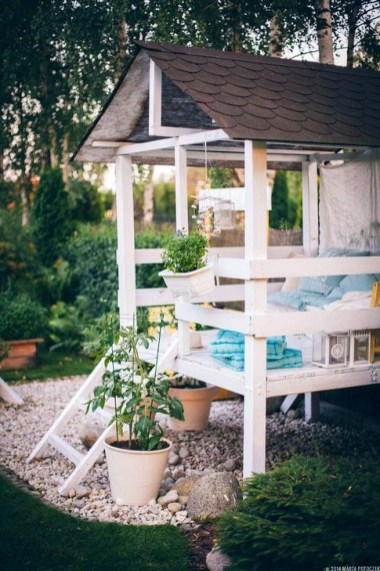 Marvelous Outdoor Playhouses Ideas To Live Childhood Adventures 44