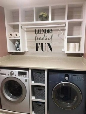 Perfect Functional Laundry Room Decoration Ideas For Low Budget 07
