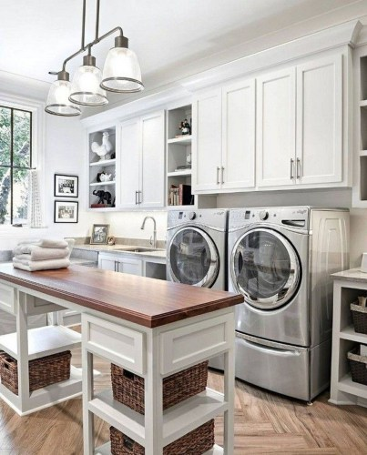 Perfect Functional Laundry Room Decoration Ideas For Low Budget 46