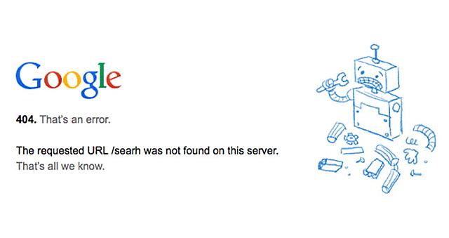 Google 404 not found Errorの画像