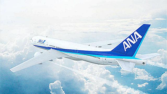 ANAのジャンボ機の画像