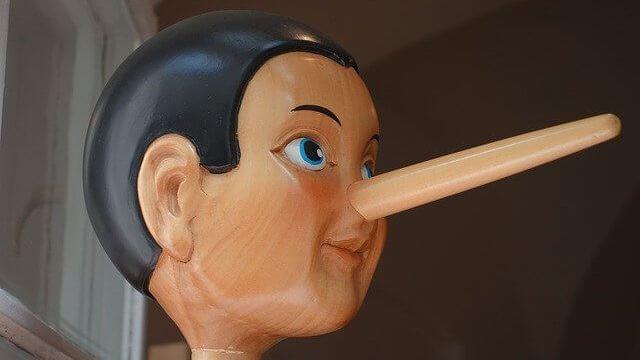 ピノキオの伸びた鼻の画像