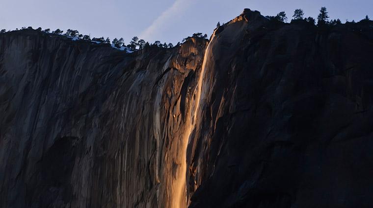 ಬೆಂಕಿ ಜಲಪಾತ horsetail fall