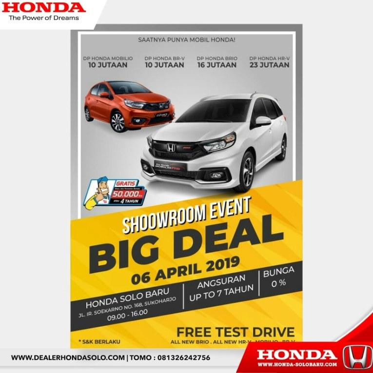 Showroom Event Dan April Big Deal Di Honda Solo Baru