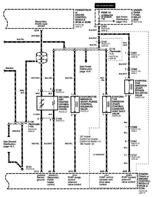 diagram 2000 honda accord o2 sensor wiring diagram full