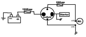help wiring my 4 pole battery disconnect switch  Honda