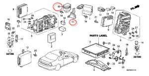 Where is the 1998 Honda Accord Main Relay?  HondaTech
