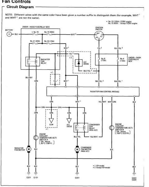 95 honda accord ex condenser fan motor issue  hondatech