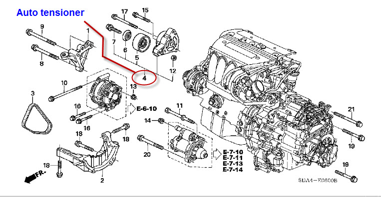 2003 Honda Accord Belt Diagram
