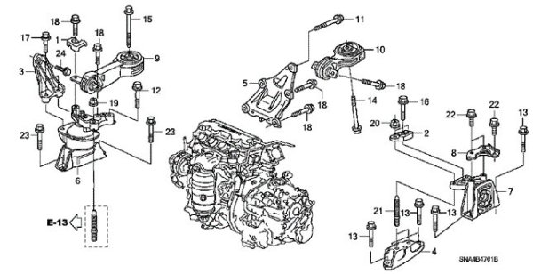 how to replace motor mount on 2007 honda civic