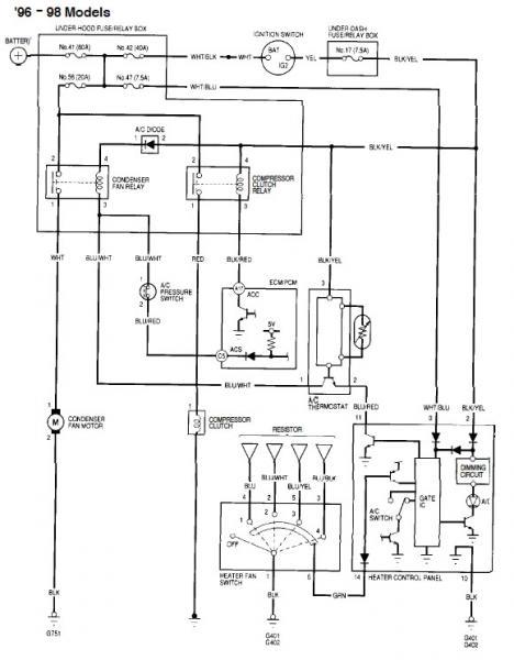 96 civic a/c compressor wiring questions  hondatech