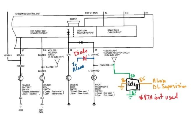 2000 civic keyless wiring diagram 1987 chevrolet fuel tank