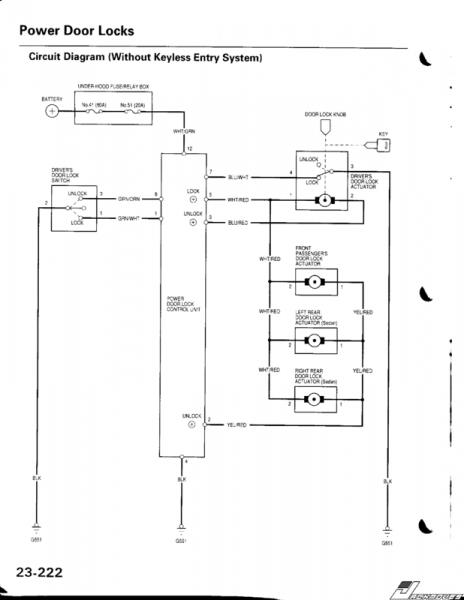 diagram honda accord door lock wiring diagram full version
