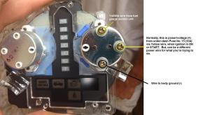 fuel gauge wiring with pics?  HondaTech  Honda Forum Discussion