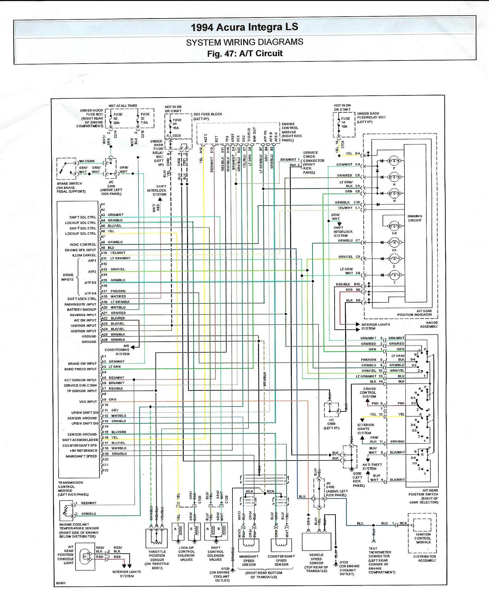Integra Wiring Diagram Blogs 1995 Honda Civic Engine 95 Gsr Ecu Wire Automotive Diagrams Yamaha 94