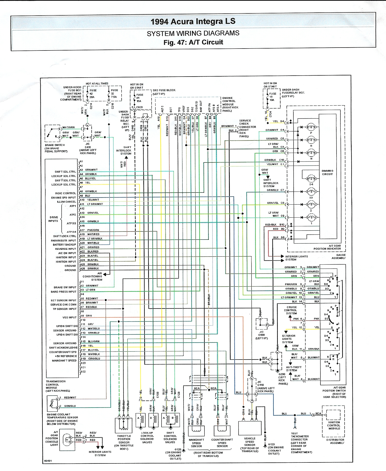 34A Wiring Diagram For 1991 Acura Integra | Wiring Resources on