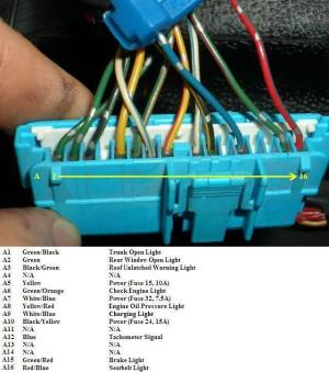 94979801 Integra Cluster Into 92959600 Civic Wiring