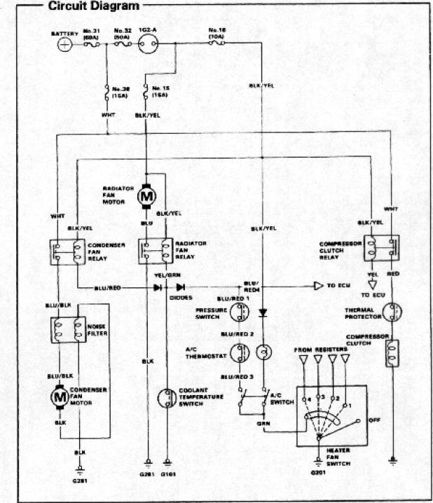 a/c wiring diagram  hondatech  honda forum discussion