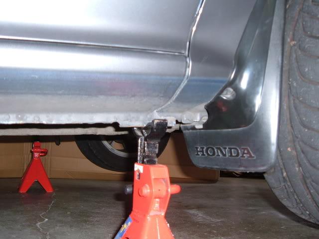 2005 Honda Accord Jacking Point