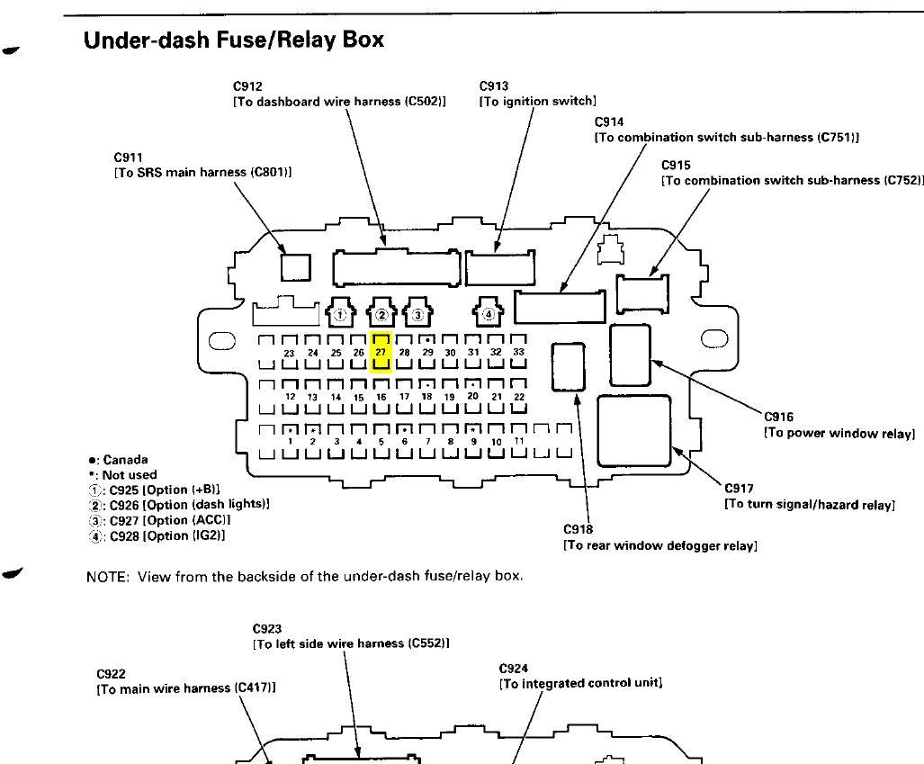2000 Honda Civic Fuse Box Under Dash - nikkoadd.com