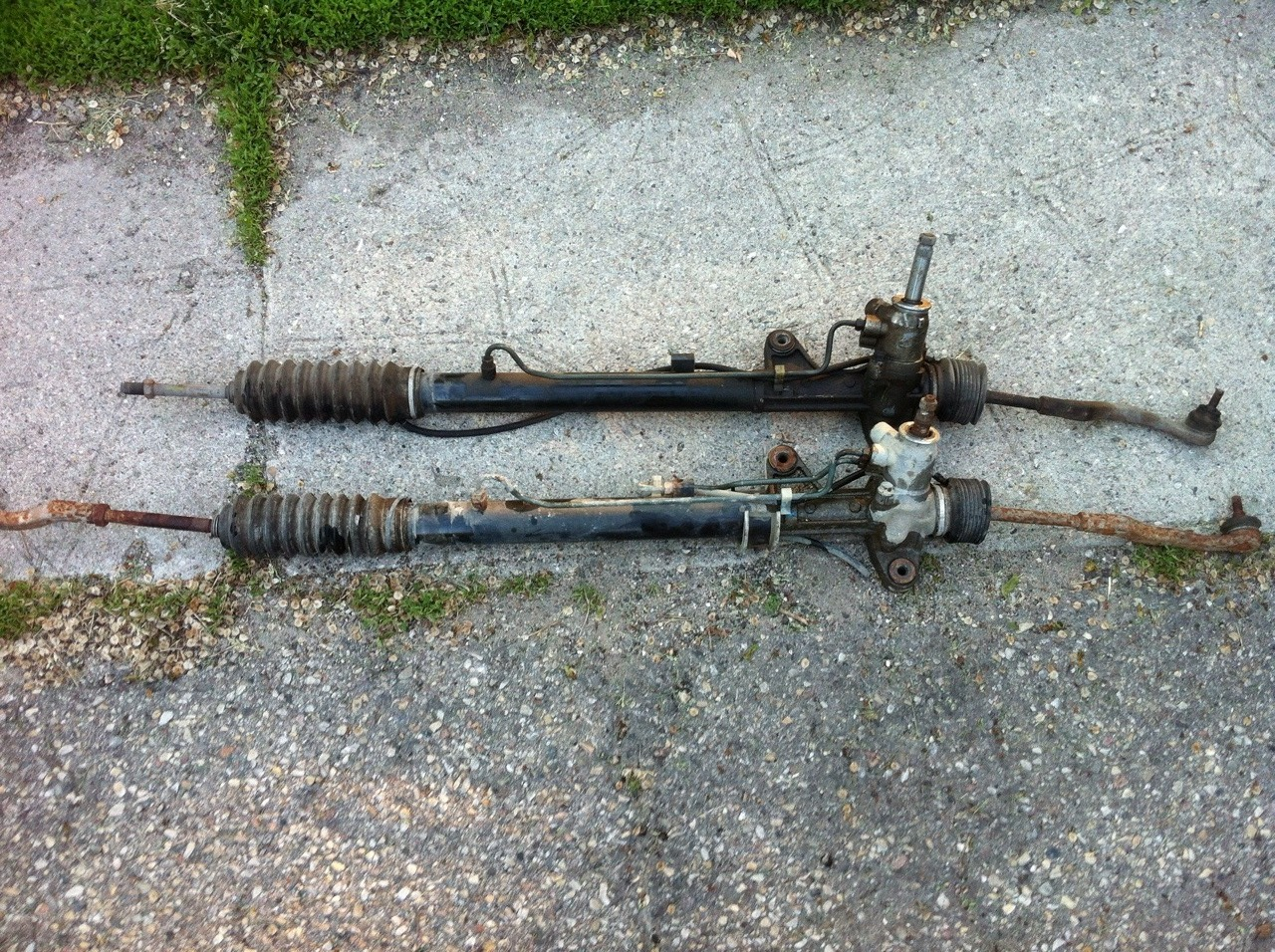 complete power steering rack and pinion
