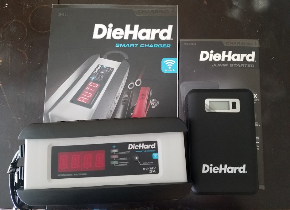 honda-tech.com product review DieHard compact jump starter battery charger maintainer
