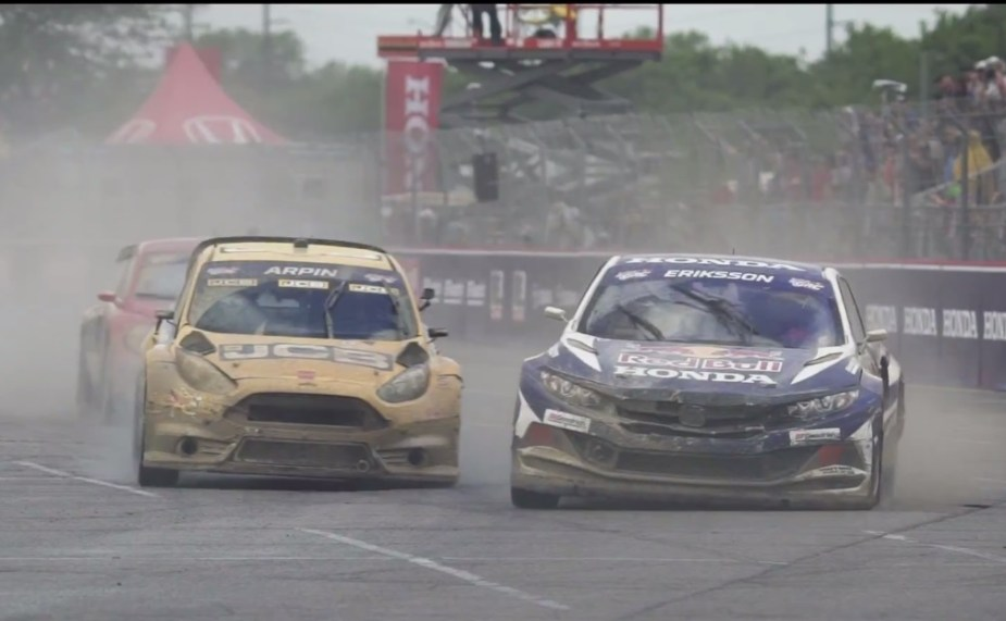 Honda-tech.com Global Rallycross GRC Sebastian Eriksson Honda Civic win victory