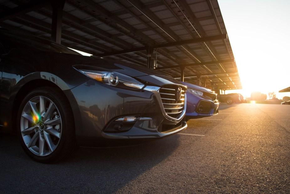 Honda-tech.com 2017 Honda Civic Sport Mazda3 hatchback comparison review
